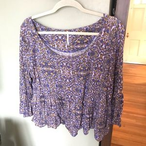 Free People | quarter sleeve adorable crop, size M